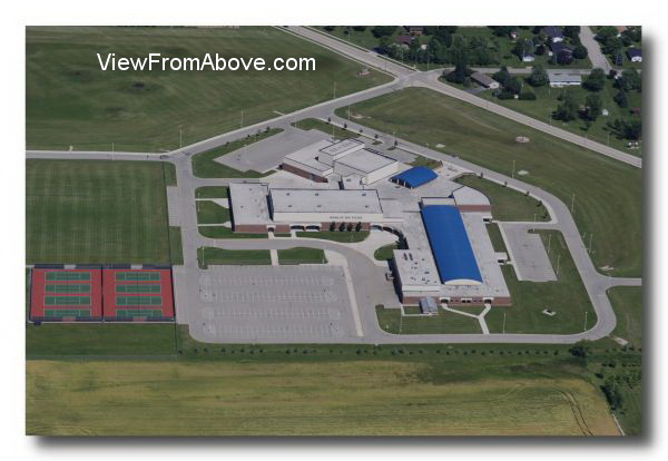 Aerial Photo Chilton, Wisconsin High School