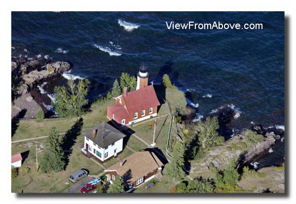Eagle Harbor Lighthouse  Eagle Harbor, Michigan Aerial Photo