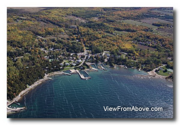Aerial Photo Ellison Bay, Wisconsin