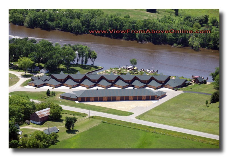 Aerial Photos on the Wolf River below Fremont, Wisconsin