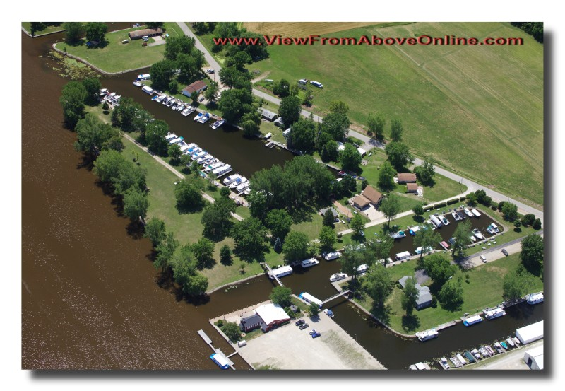 Marina on the Wolf River below Fremont, Wisconsin