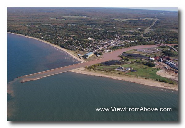 Ontonagon, Michigan Aerial Photo