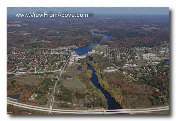 Peshtigo, Wisconsin Aerial Photo
