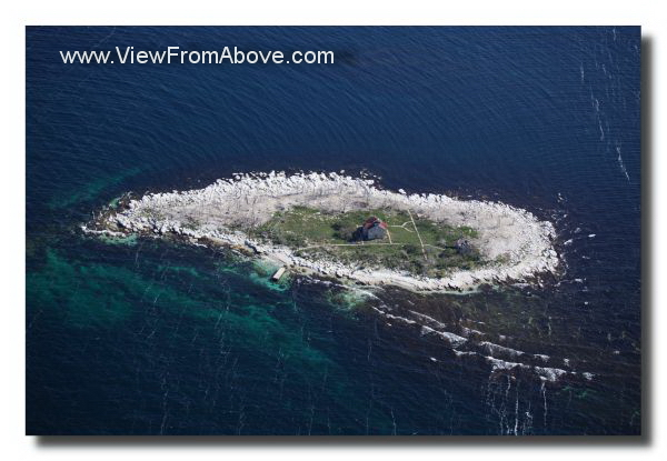 Aerial Photo, Pilot Island, Door County, Wisconsin