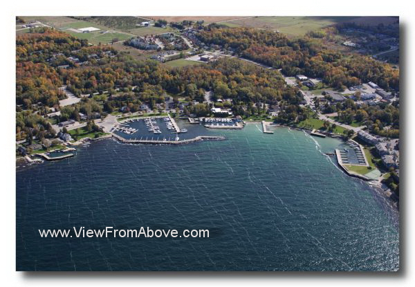 Aerial Photo Sister Bay, Wisconsin