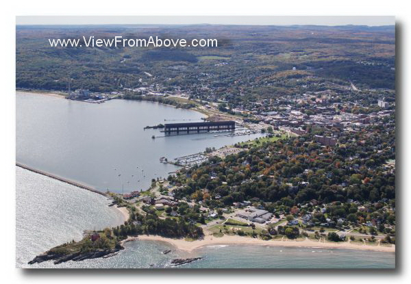 Aerial Photo Marquette, Michigan